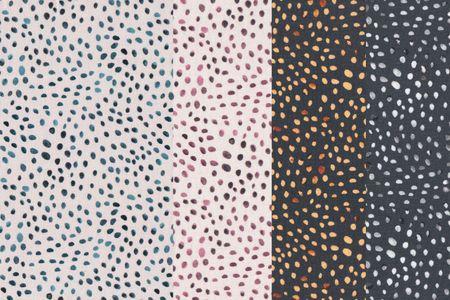 Jersey Stoff mit Punkten auf schlamm, grün oder anthrazit von Swafing