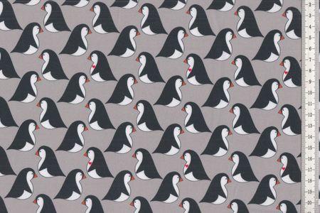 Sweat weicher Stoff mit Pinguinen auf blau oder grau von Cherry-Picking – Bild 2