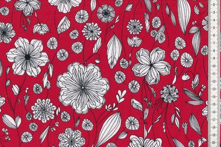 Sweat Mademoiselle Margol by Lila-Lotta von Swafing schöne Blumen auf erika oder braun, unangeraut – Bild 2