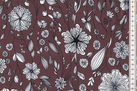 Sweat Mademoiselle Margol by Lila-Lotta von Swafing schöne Blumen auf erika oder braun, unangeraut – Bild 3