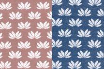 Jacquard Jersey Winter-Flower by Lila-Lotta Blüten auf dunkelblau oder braun von Swafing 001