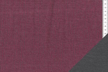 """Doubleface Strickstoff """"Steffen"""" meliert in brombeere/Dunkelgrau oder dunkelblau/grau von Swafing – Bild 2"""