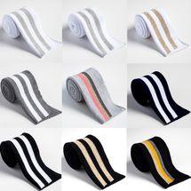 Faltbündchen Bündchen in weiß, schwarz, grau, gold, navy, gelb,pink 001