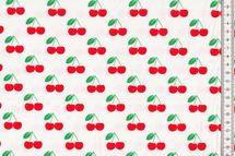 Jersey mit Kirschen auf weiß von Fräulein von Julie 001