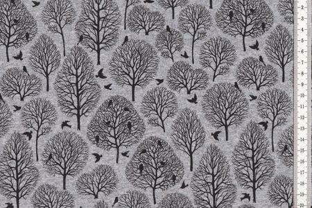 Sweat mit Bäumen und Vögeln auf grau von Fräulein von Julie