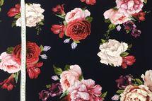 Sweat Eigenproduktion Blumen Rosen in lachs und rot auf dunklem blau 001