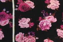 Sweat Eigenproduktion Blumen Rosen in pink und rosa auf schwarz 001