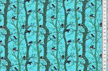 Sweat mit Vögel und Bäumen mit Schnee auf mint von Fräulein von Julie 001