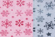 Sommersweat mit Wintermuster Sterne Kristall in blau oder altrosa 001