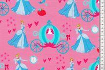 Disney-Jersey Prinzessin, Jersey Baumwolle, Cinderella auf rosa von Swafing 001