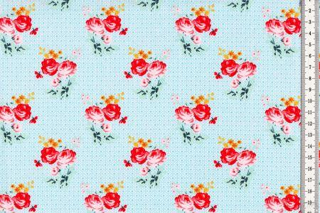 Baumwolle Rosen auf hellbauem Muster