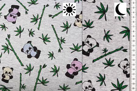 Magic Happy Fleece Farbwechsel mit Panda auf grau