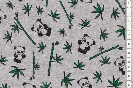 Magic Happy Fleece Farbwechsel mit Panda auf grau – Bild 2