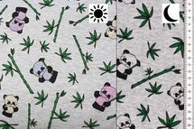 Magic Happy Fleece Farbwechsel mit Panda auf grau 001