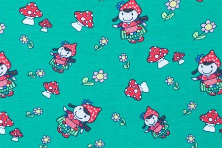 Jersey mit Mädchen auf rosa, blau grün oder dunkelgrau – Bild 5
