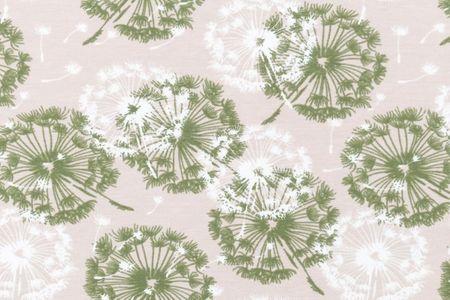 Jersey mit Pusteblumen auf rosa, blau sand, grau oder jeans – Bild 3