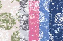 Jersey mit Pusteblumen auf rosa, blau sand, grau oder jeans 001