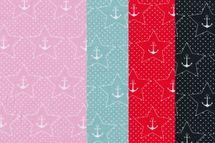 Jersey mit Ankern und Sternen auf marine, rosa, rot oder mint von BIPP Design® 001