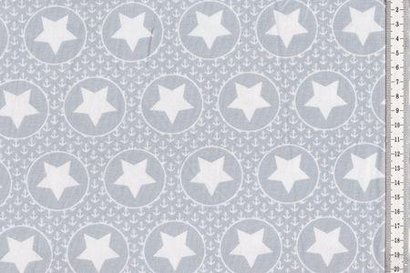 Jersey mit Kreisen, Ankern und Sternen auf hellgrau, hellrosa oder hellblau von BIPP Design® – Bild 2