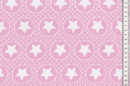 Jersey mit Kreisen, Ankern und Sternen auf hellgrau, hellrosa oder hellblau von BIPP Design® – Bild 3