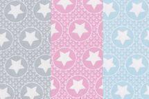 Jersey mit Kreisen, Ankern und Sternen auf hellgrau, hellrosa oder hellblau von BIPP Design® 001