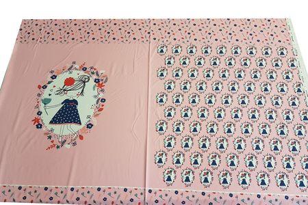 Jersey Panel Gilby pink Mädchen mit Blumen von BIPP Design® – Bild 2