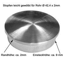 Edelstahl Geländer Handlauf Wand Träger Haltegriff Ø42,4 x 2 mm Einzelteile V2A