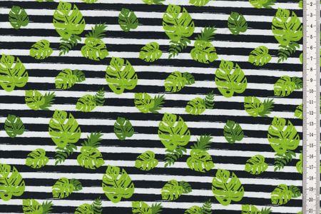 Jersey mit Blättern und Streifen von Fräulein von Julie