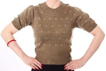 50s retro IRLANDA Polka Dots Jumper Strickshirt – Bild 3