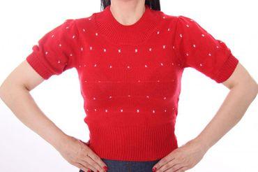 50s retro IRLANDA Polka Dots Jumper Strickshirt – Bild 8
