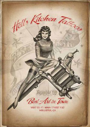 Poster Hells Kitchen Tattoo