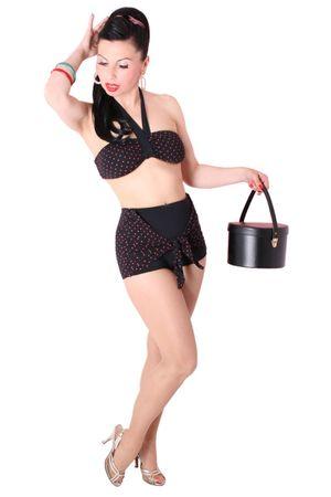 HELENA 50er retro Polka Dots Sarong Panty Bikini – Bild 1