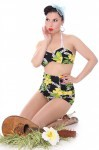 HAWAII Blüten LANAI 50er retro Pin Up Rockabilly Hibiskus Bikini – Bild 3