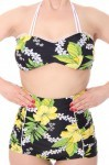 HAWAII Blüten LANAI 50er retro Pin Up Rockabilly Hibiskus Bikini – Bild 5