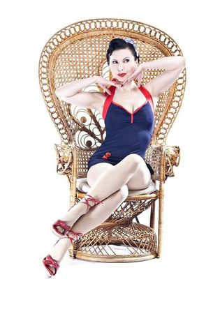 Retro Sailor 50s PIN UP Matrosen Vintage Style Badeanzug v. SugarShock – Bild 2