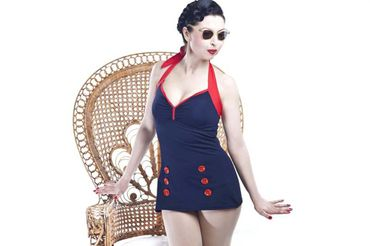 Retro Sailor 50s PIN UP Matrosen Vintage Style Badeanzug v. SugarShock – Bild 3