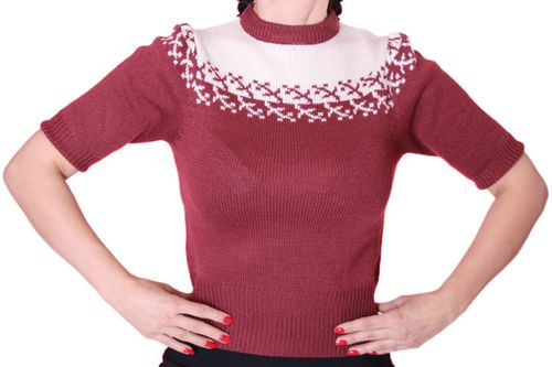 Dorro 50er retro Jumper Shirt – Bild 3