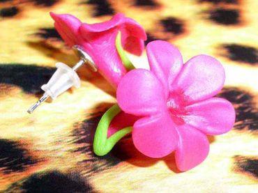FRANGIPANI Blüten HAWAII Ohrstecker – Bild 4