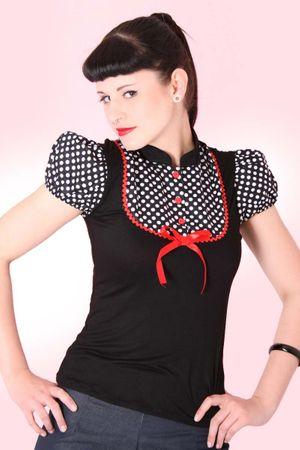 JUDIE Pin Up retro Polka Dots T-Shirt v. SugarShock – Bild 4
