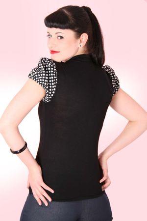 JUDIE Pin Up retro Polka Dots T-Shirt v. SugarShock – Bild 2