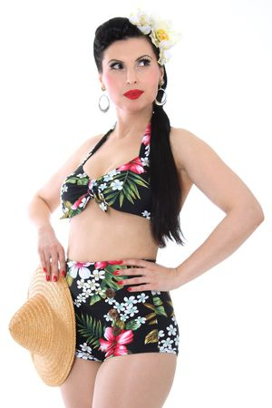 50er retro Hawaii Blüten Pin Up Bikini v. SugarShock