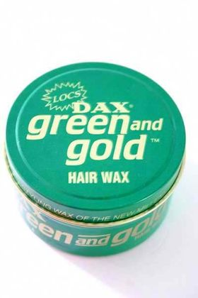 DAX green and gold Pomade Hair WAX