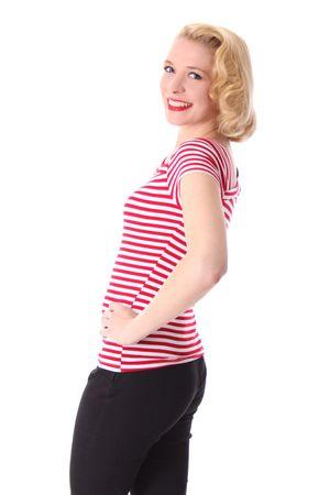 50s retro Ganja Streifen Sailor T-Shirt v. SugarShock – Bild 17