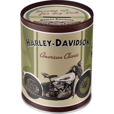 Harley Davidson Knucklehead retro Blechdose Spardose