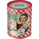 Have a Coffee Pin Up retro Blech Spardose 001