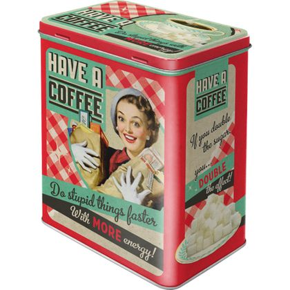 Have a Coffee 50s retro Blechdose Vorratsdose