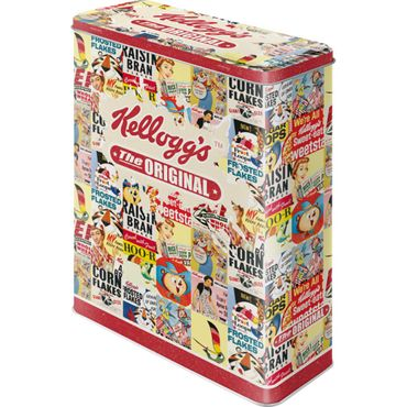 Kelloggs The Original Collage 50s retro Blechdose Vorratsdose