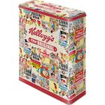 Kelloggs The Original Collage 50s retro Blechdose Vorratsdose 001