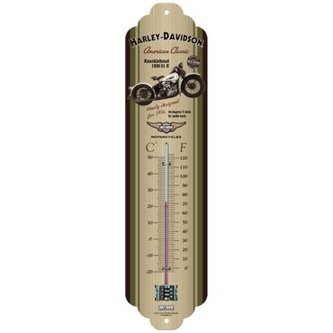 Harley Davidson Knucklehead 50s retro Blech Thermometer