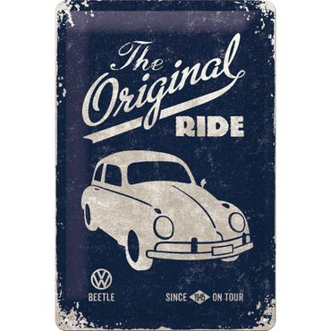 VW Beetle The Original Ride Käfer 50er retro Blechschild